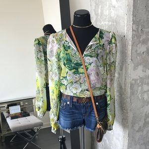 Zara Summer Floral Printed Blouse // Top
